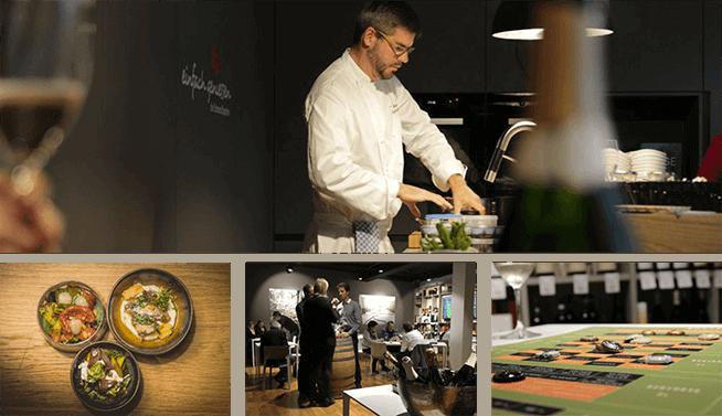 Kommunikative Küchenparty mit Weinroulette